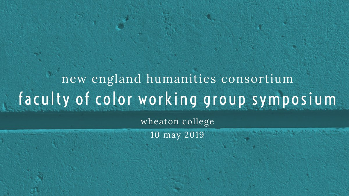 Banner image for NEHC's Faculty of Color Working Group symposium